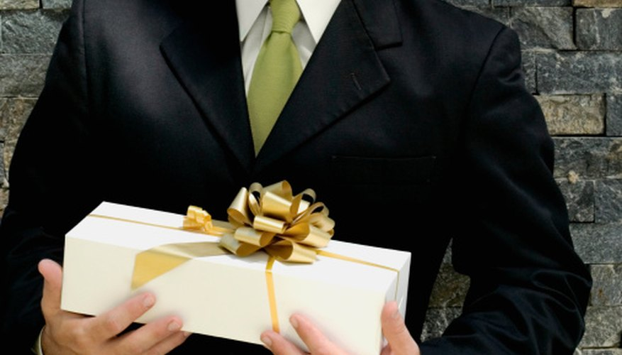 Follow the appropriate etiquette after receiving a business gift.