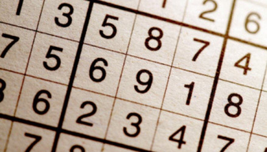 Sudoku is a number reasoning game for children and adults.