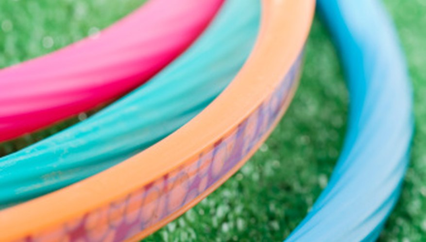 Use hula hoops for fun games and contests.