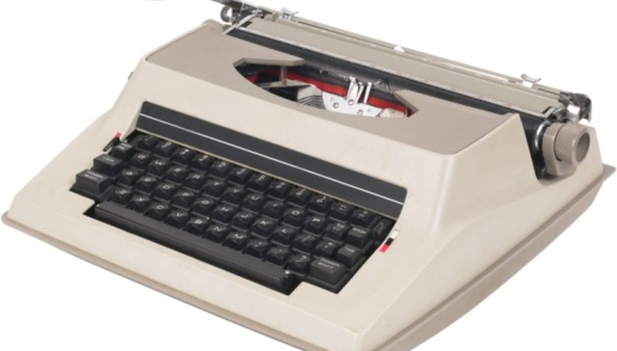 Resetting an electric typewriter's memory clears old settings.