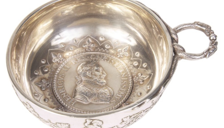 Antique sterling silver pieces often commemorate historic figures or events.