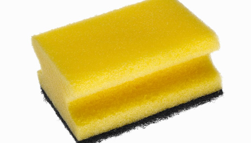 A sponge works because, when wet, it is capable of conducting electricity.