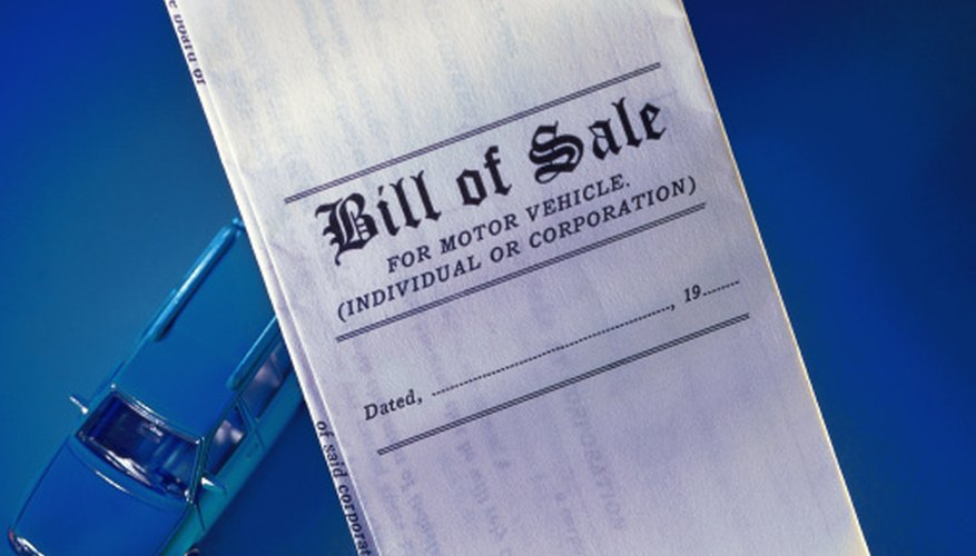 how to write a bill of sale in texas bizfluent