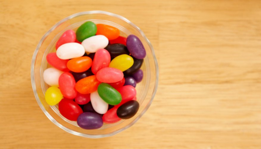 Use flavored jelly beans for a tasty indoor game.