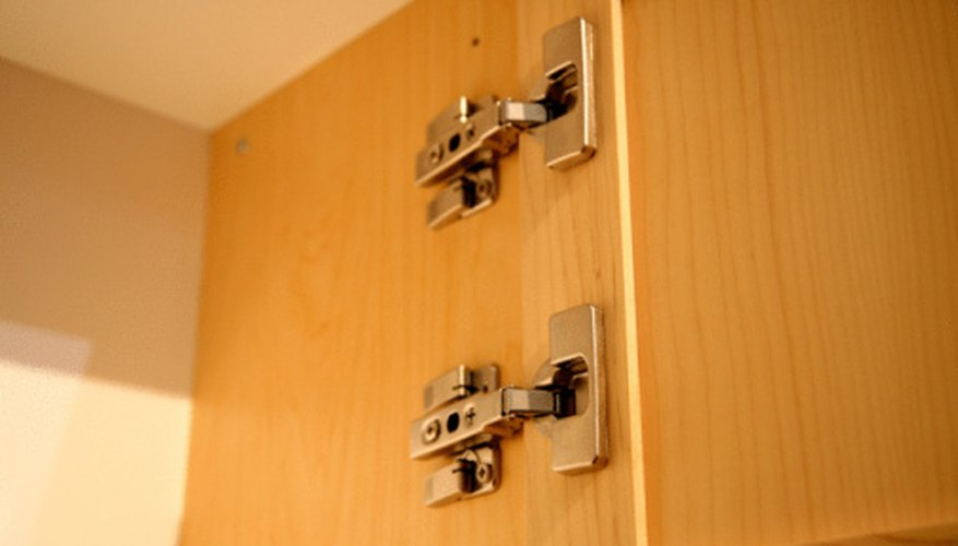 Strengthen hinges before installing door organizers.