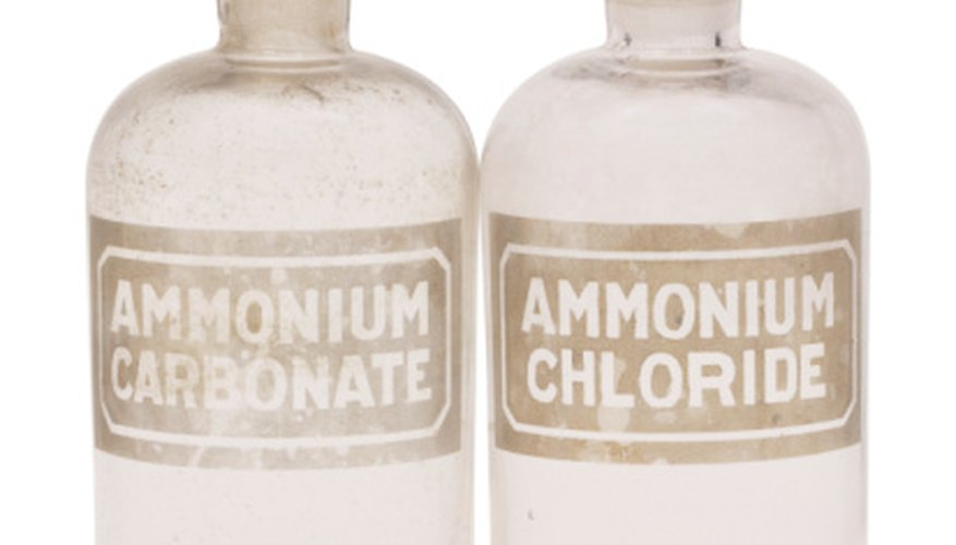 Ammonium carbonate, one of many chemicals used for hundreds of years.