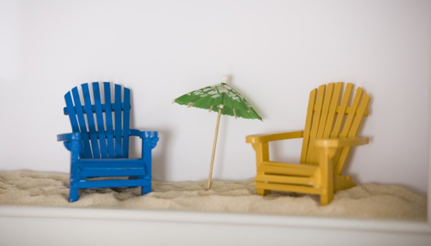 Add miniature Adirondack chairs to dioramas or shadow boxes for a summery feel.