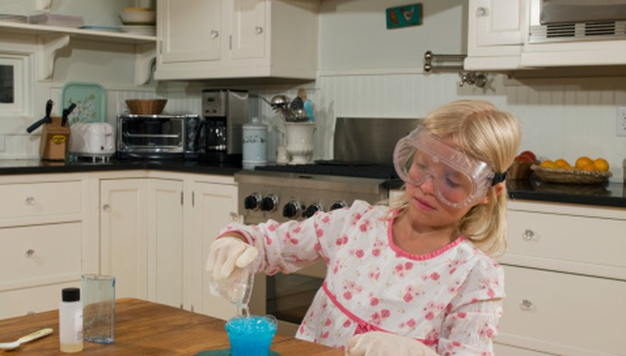 Kids perform density experiments at home or at school.