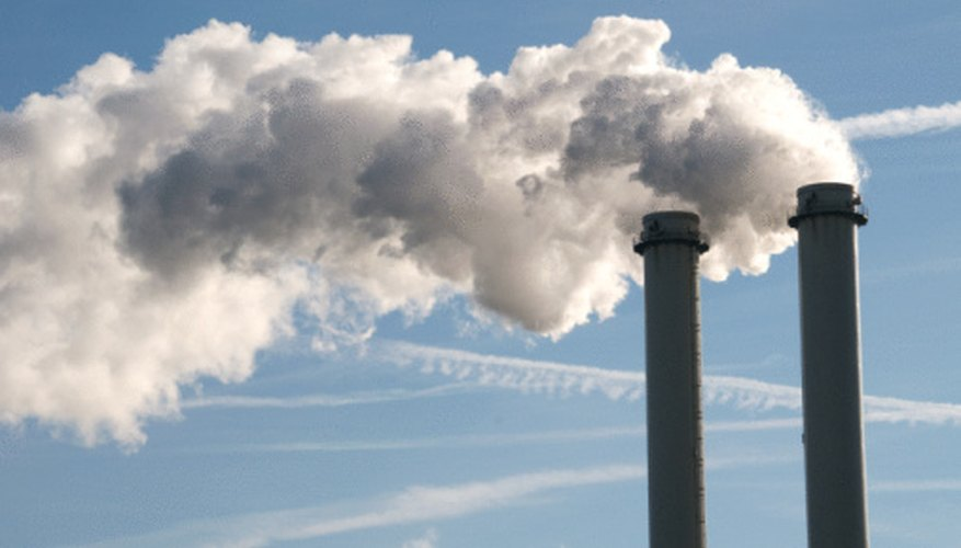 When high enough in the air, smoke stacks will disperse mostly exhaust.