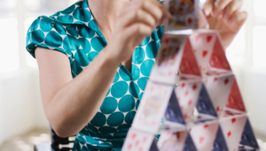 Playing cards can be used for many fun crafts.