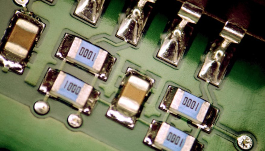Electronic components are made from several types of raw material.