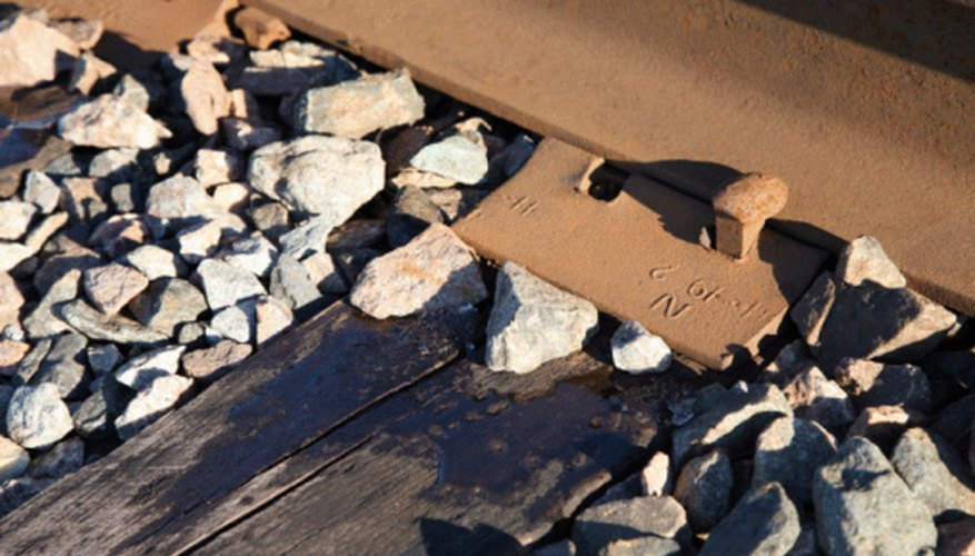 There are different sizes of railroad spikes, depending on the type of wooden tie used and the weight and size of the track itself.