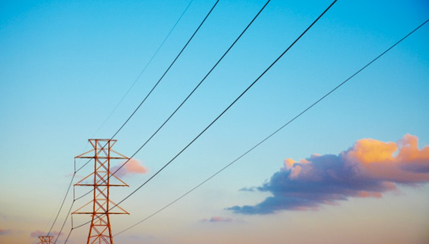 Cables carry electricity over long distances.