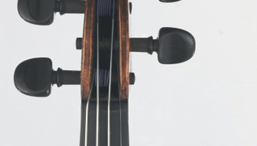 Cello pegs can slip, causing the string's pitch to lower.