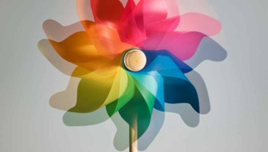 Make colorful pinwheels for a craft or just for fun.