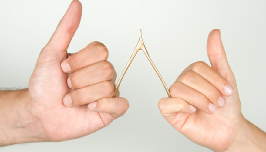 Make a wishbone rubbery with simple household vinegar.