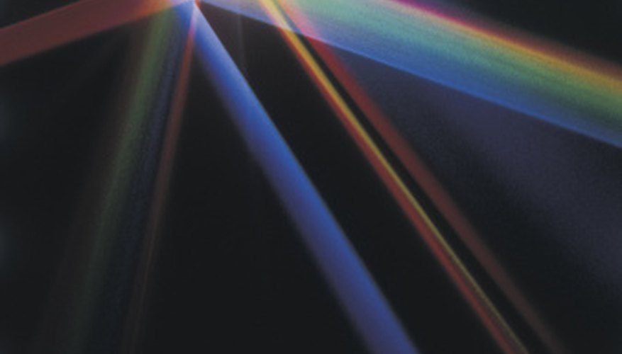 Light can either move straight through a crystal or will disperse as in a prism.