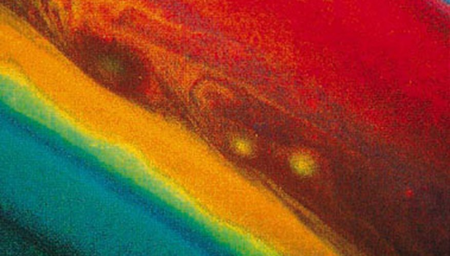 The gases that make up Saturn's atmosphere create a beautiful array of colors.