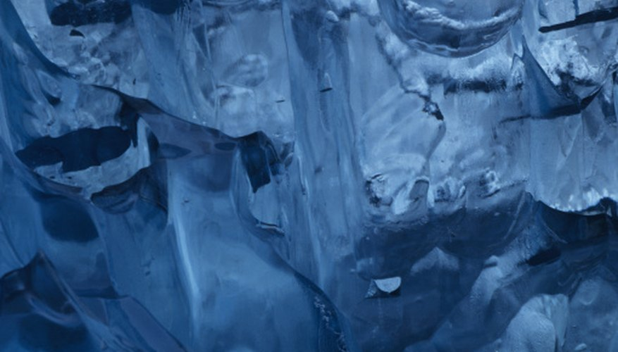 Large pack ice structures create beautiful patterns and textures.