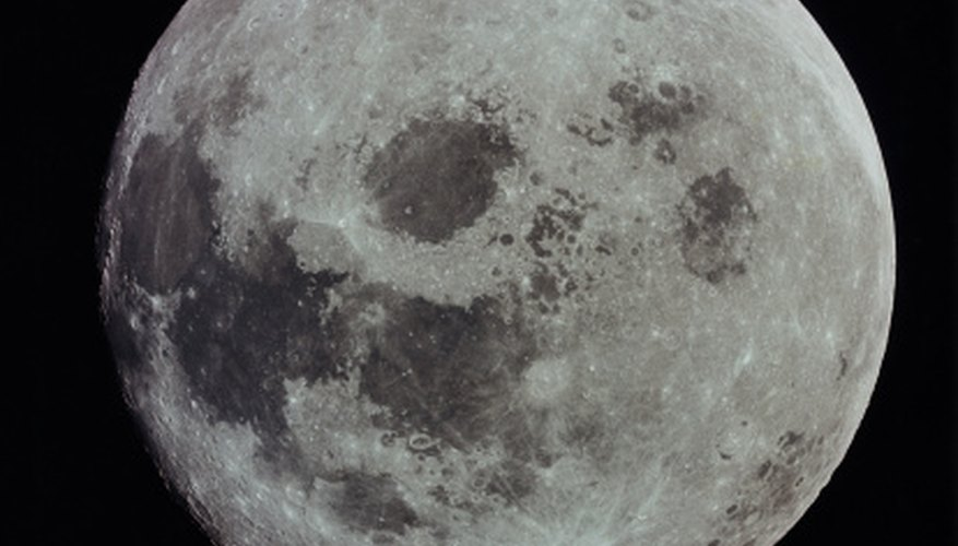 One of the moon's phases is full moon.