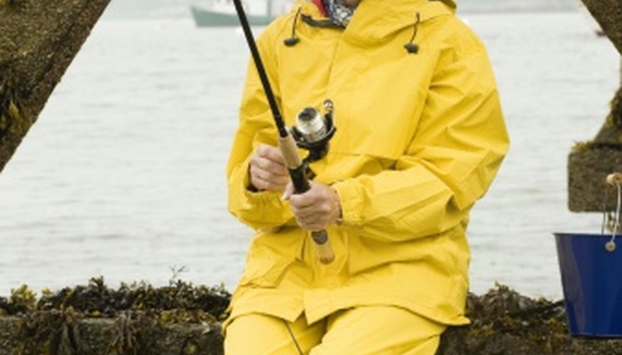 Marine supply stores frequently stock foul-weather gear and fishing equipment.
