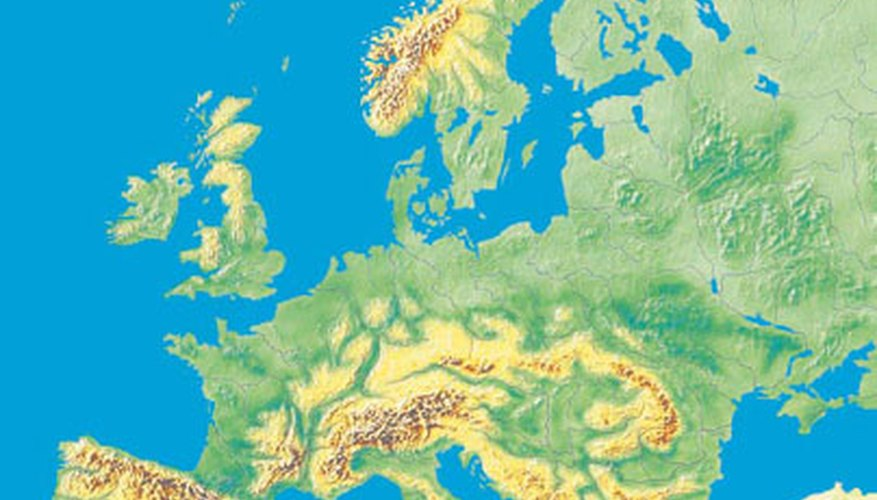 Europe has a wide range of irregular shapes marking its borders.