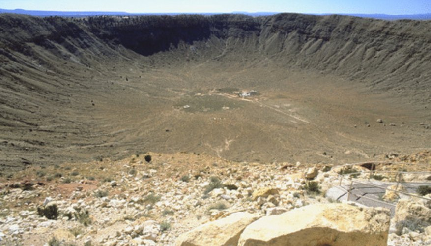 Impact craters can be seen on all four terrestrial planets.