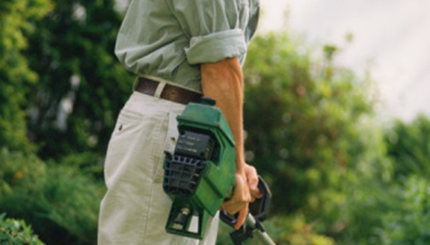 Trimmers can also be used to trim edges on a sidewalk and pathway.