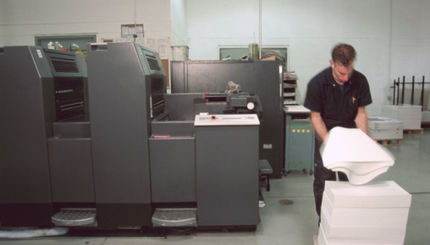 A sheetfed printer requires a specific type of paper.