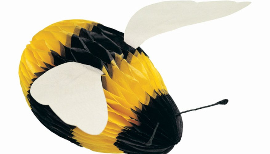 Make a whimsical bumble bee using recyclables.