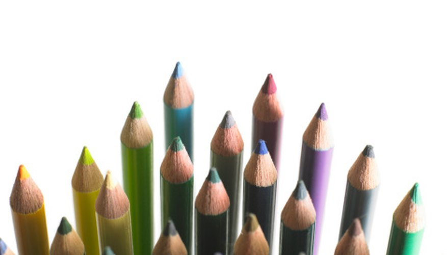 The colored pencils that your child uses are not made like regular graphite pencils.