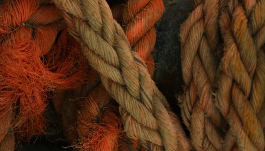 Select natural fiber rope for your art project.
