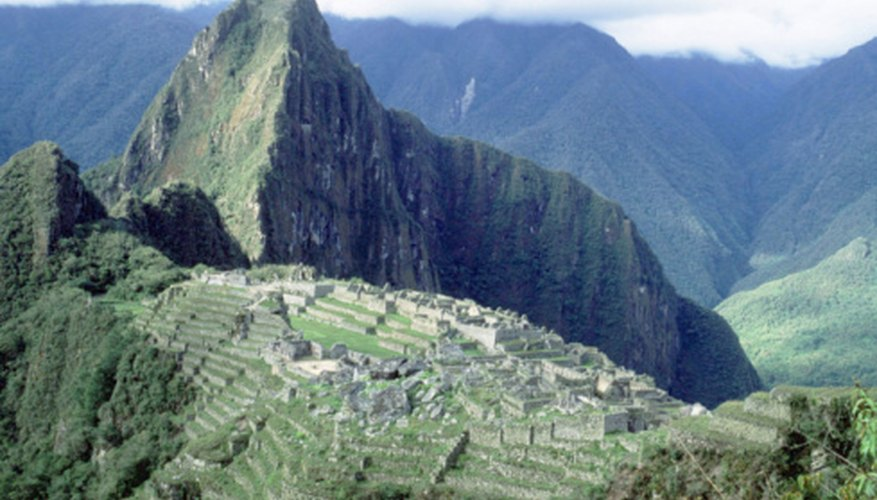 The Andes include Peru's Macchu Pichu ruins.