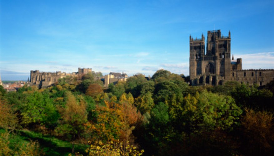 Durham Cathedral and Castle are in England's temperate climate.