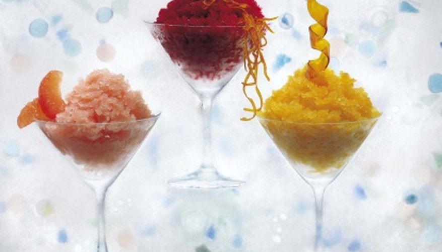 Snow cones are a simple and popular street vending choice.
