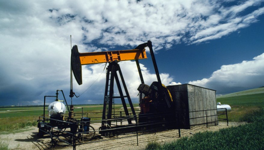 Oil is pumped near Calgary, Alberta, Canada.