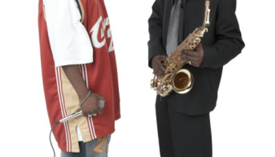 Rap musicians sample other genres including Rock, country music, R&B, and jazz.