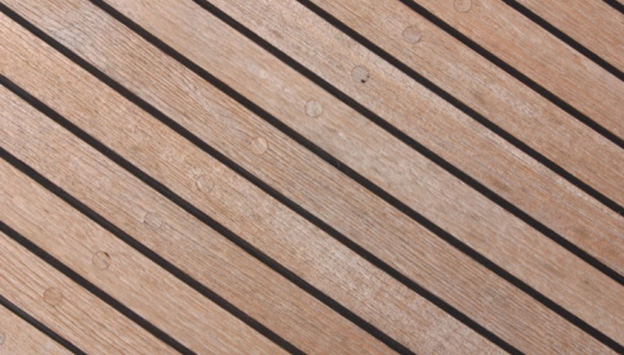 Teak has a yellow color with very few knots or grain patterns.