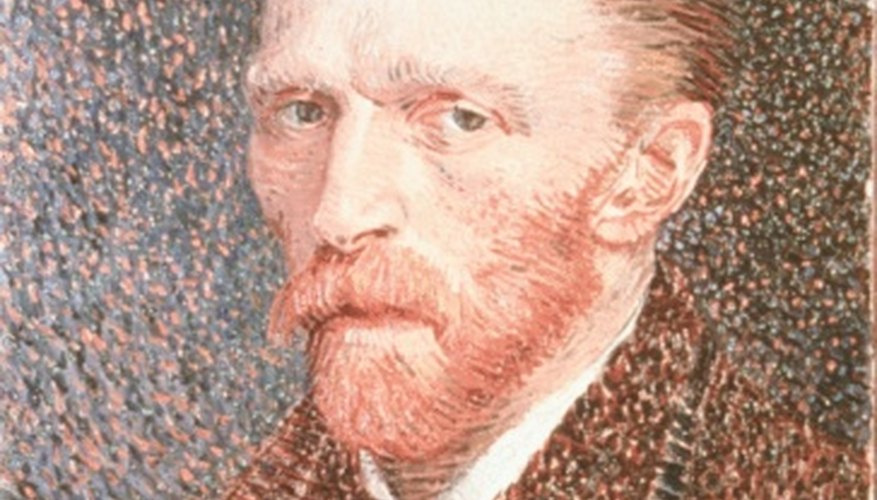 Color and brushstrokes convey emotion in Vincent van Gogh's painting.