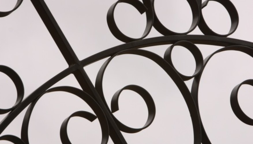Large scale ornamental ironwork is often made up of smaller pieces welded together.