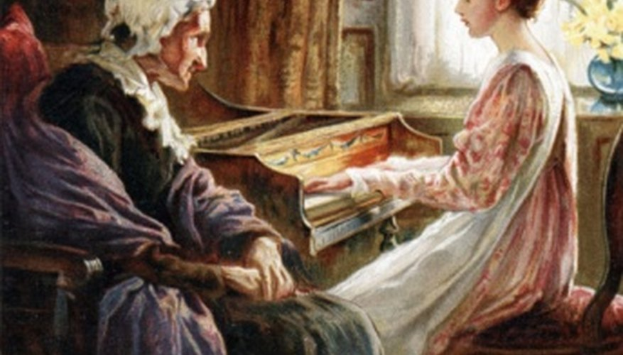 The harpsichord and clavichord were both used at home for private gatherings.