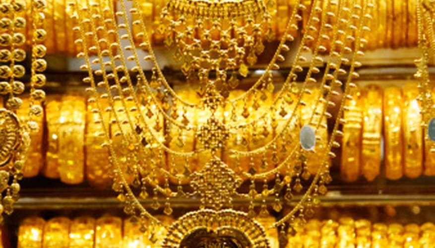 Because of its value, gold jewelry is produced using a number of different methods.