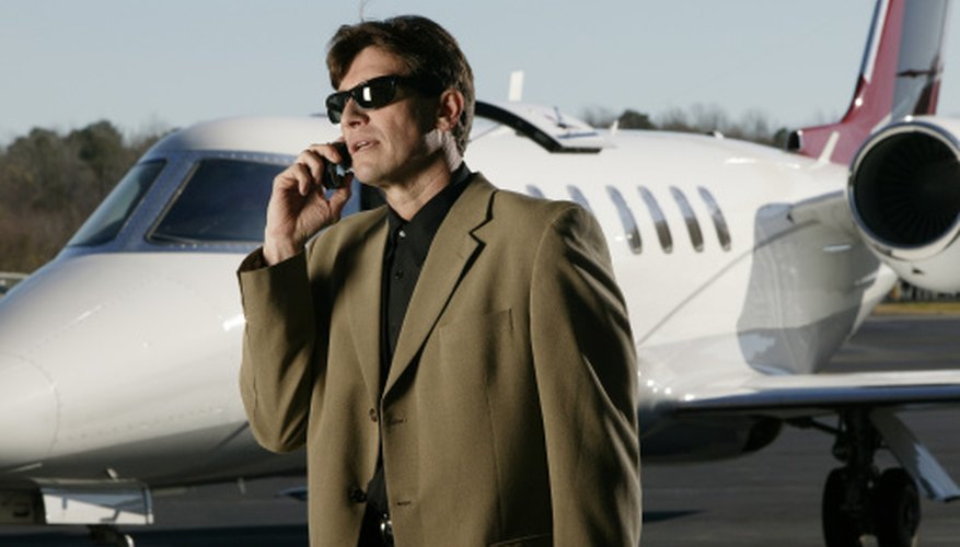 Business professionals often use private jets for on-demand business travel.