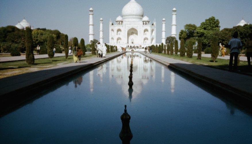 White marble was chosen for the Taj Mahal.