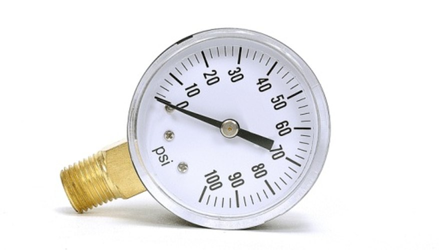 The unit psig takes its name from physical pressure gauges.