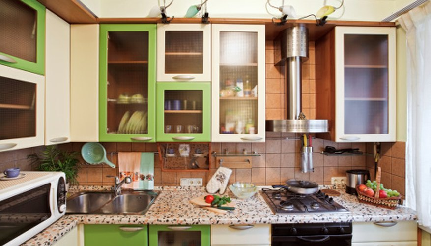Painting kitchen cabinets can change the look of a room.