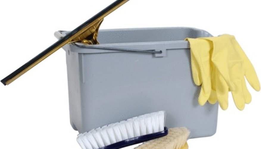Figure in the cost of cleaning materials.