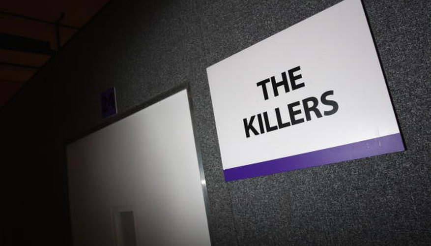 The Killers' dressing room back stage.
