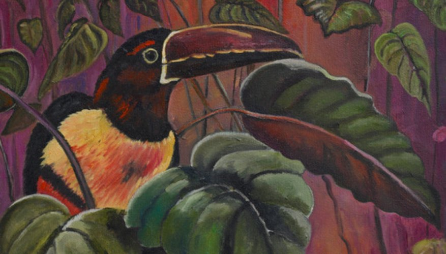 A base color is used to create the color of the bird's environment in most paintings.