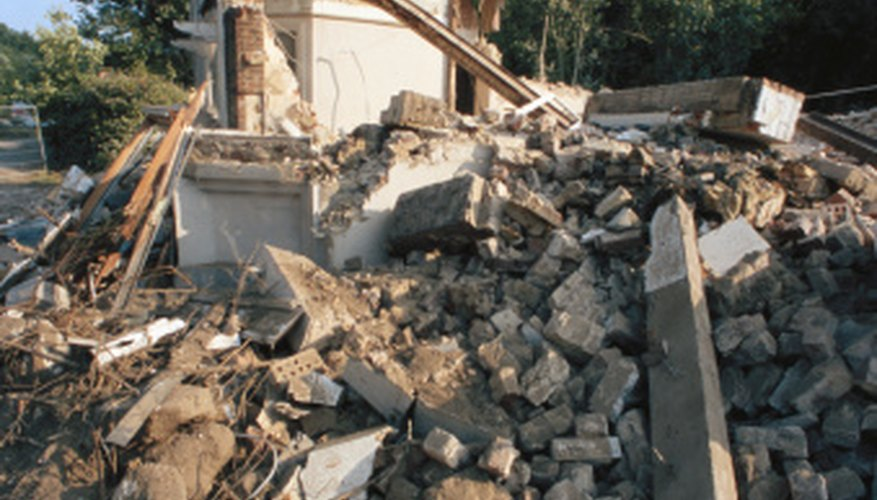 Earthquakes can cause serious damage to structures above ground.